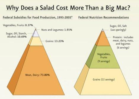 Wieso kostet ein Salat mehr als ein Big Mac
