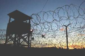 Guantanamo,_Camp_X-Ray,_at_Dusk_January_2002